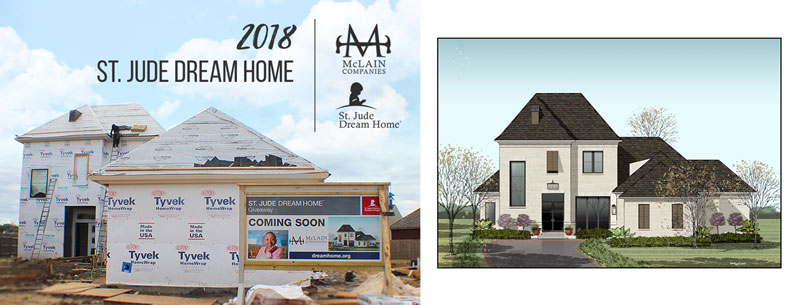 The 2018 St Jude Dream Home Is Located In Grand Pointe Development Lafayette La Address 210 Oats Dr 70508
